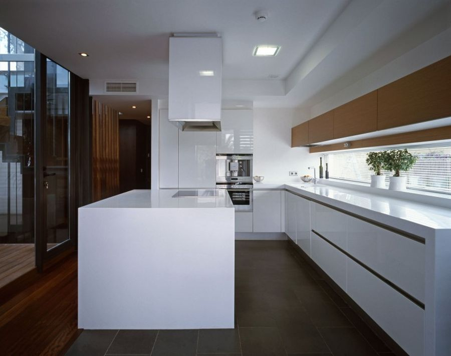 Ergonomic modern kitchen in Spanish home