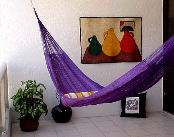 Hammock can bring in a bit of color