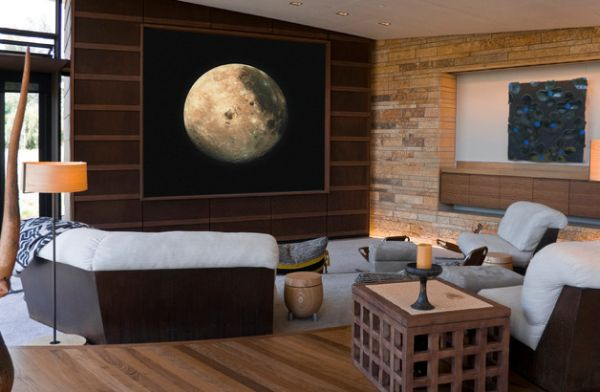 High resolution display of the night sky in the living room