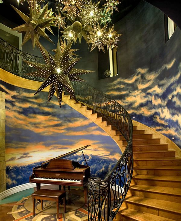 Magical room feels like an ascent to heaven!