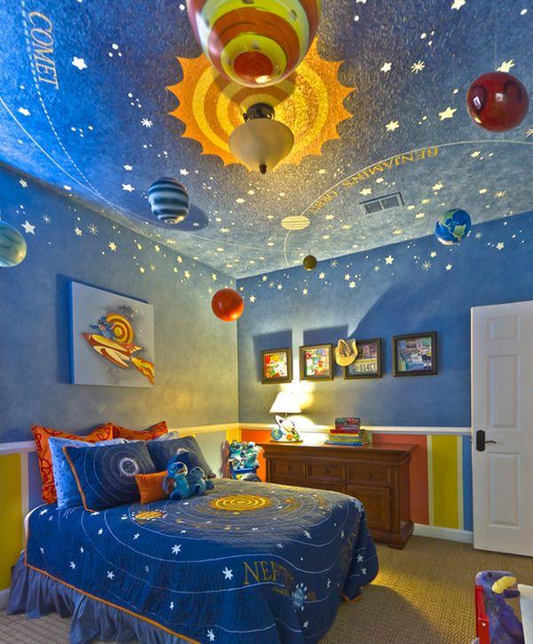 Planets, stars and plenty of blues