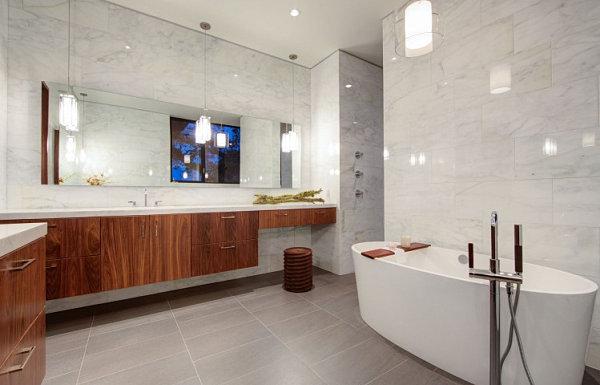 Stunning marble bathroom