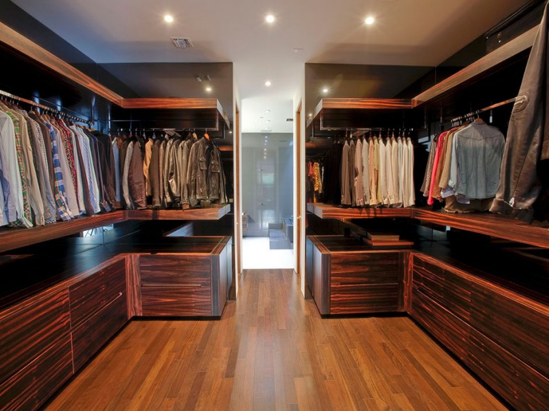 walk in male closet
