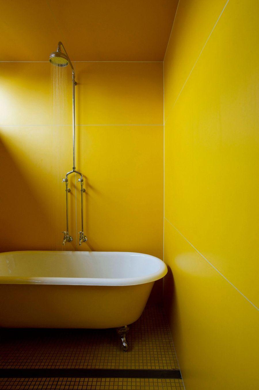 Beautiful bathroom in Yellow