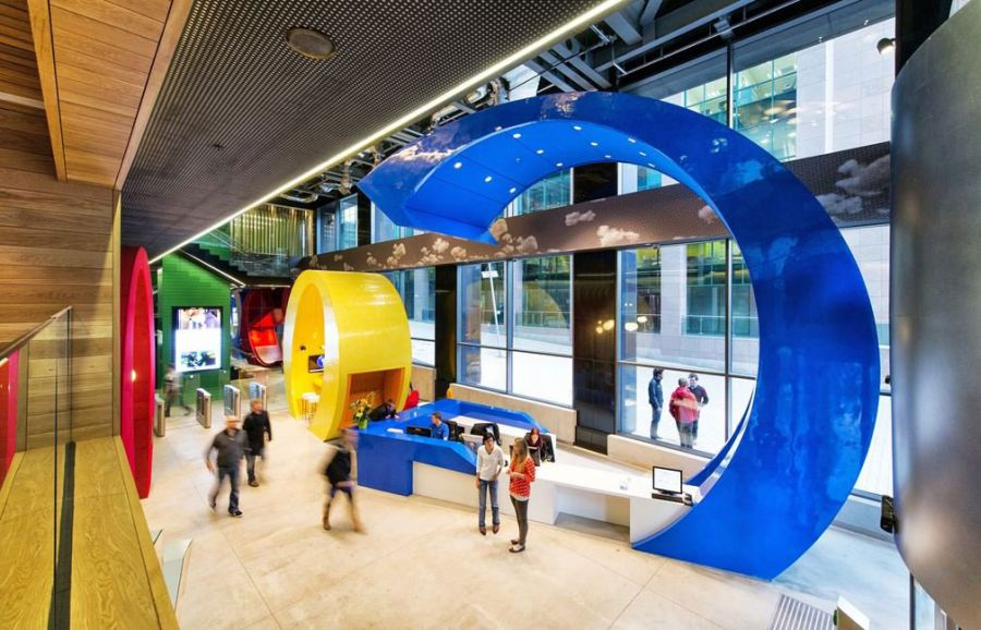 Colorful reception at the Dublin Google Campus
