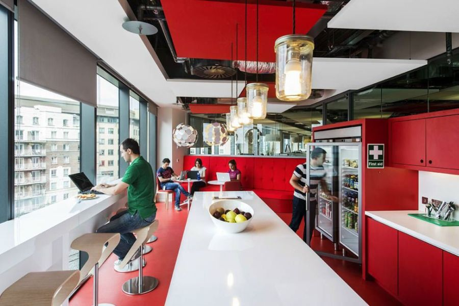 Smartly designed cafeteria at the Google campus