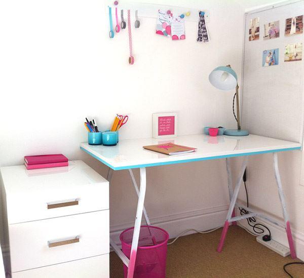 IKEA desk with DIY updates