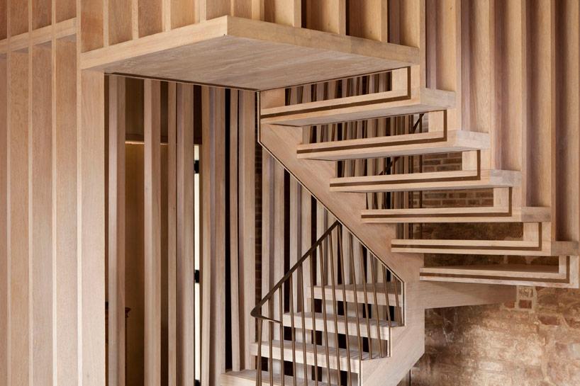 Staircase design in Astley castle