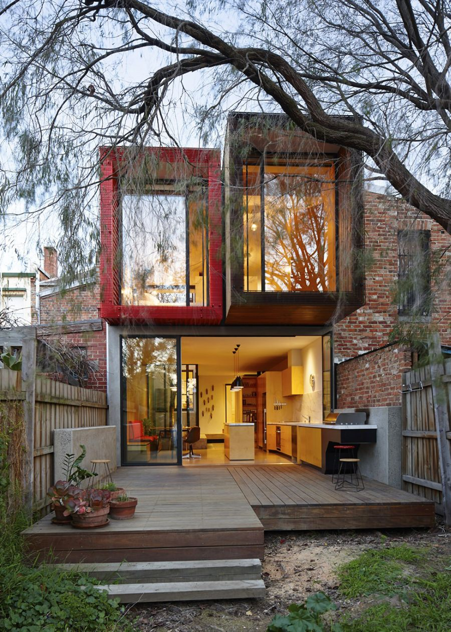 Box like design of the Melbourne home