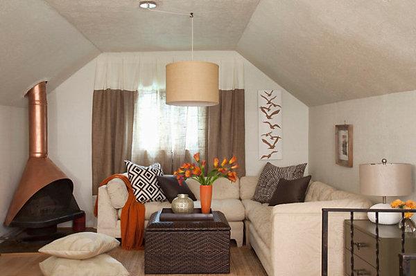 Cozy living room with warm tones