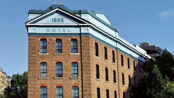 Facade of the 1888 Hotel in Sydney