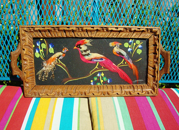 Mexican feather art