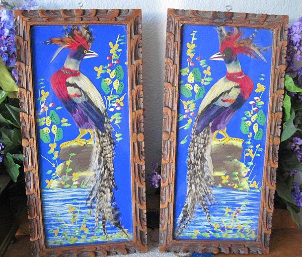 Mexican feather folk art