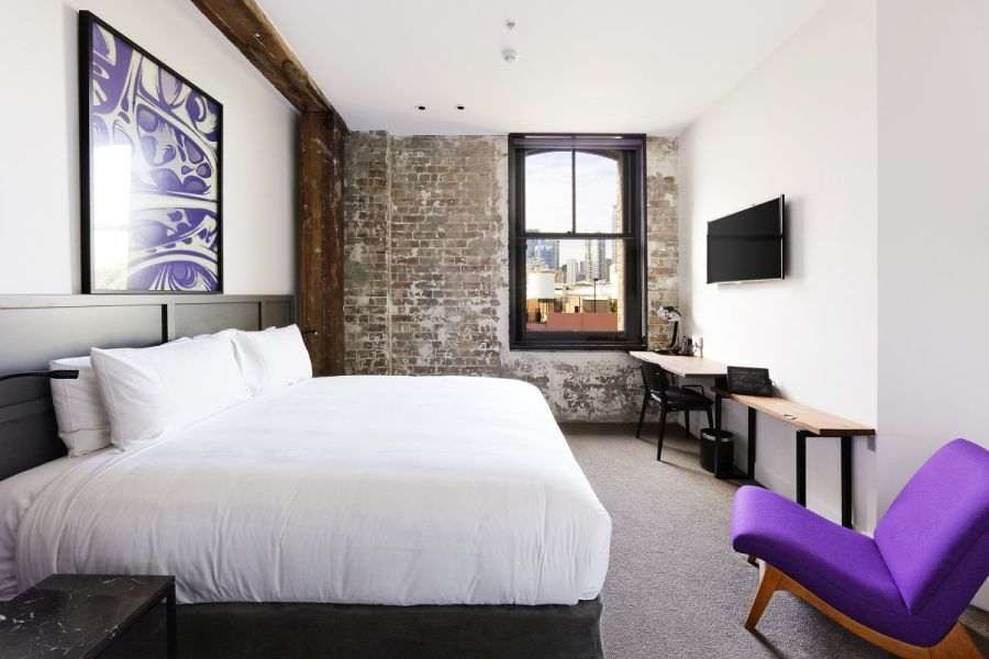 Purple seems to be a favorite shade in Hotel 1888