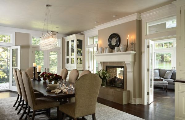 Candles are another great addition to a romantic dining room setting