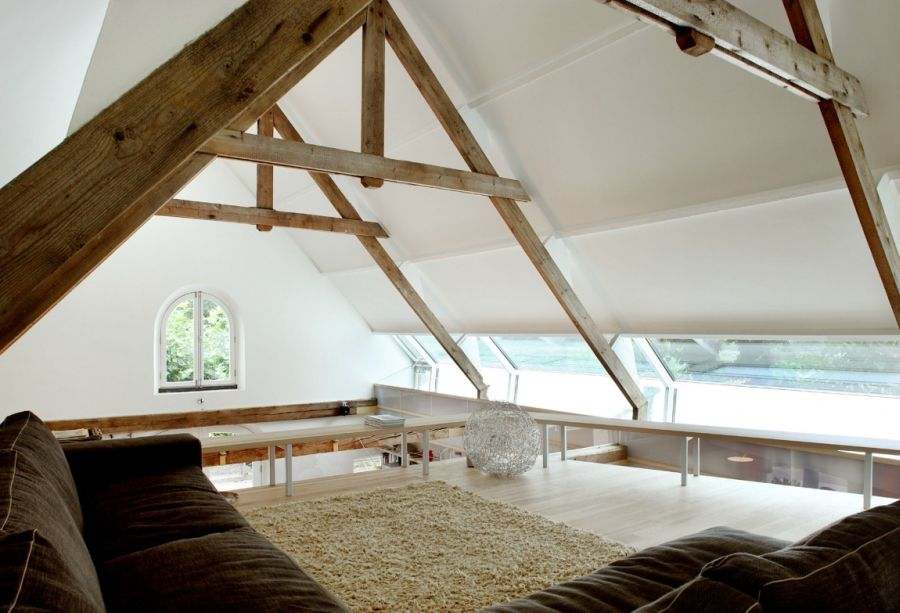 Contemporary design coupled with rustic barn structure