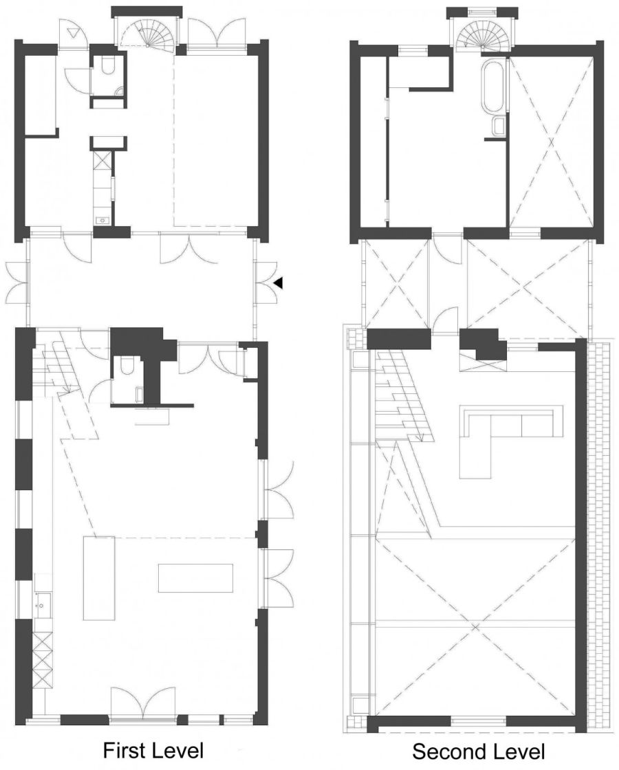 Floor plan of the renovated House G by Maxwan Architects