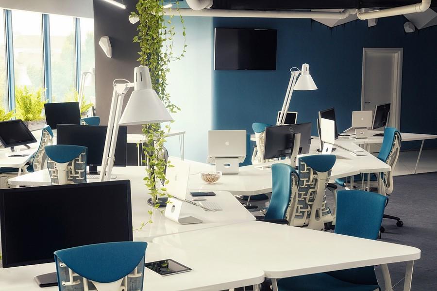Futuristic office furniture for Game studio