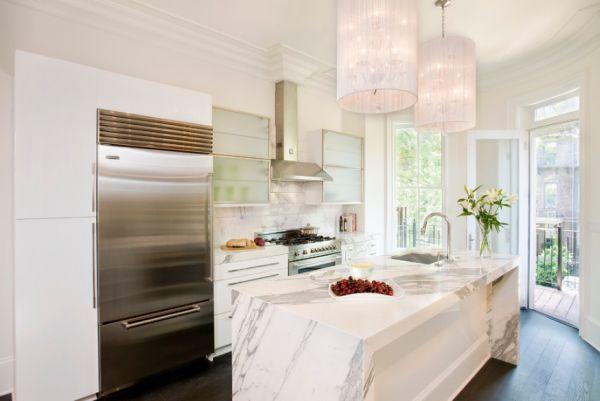 Modern kitchen island design plan