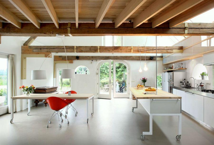 Modern kitchen on the lower level