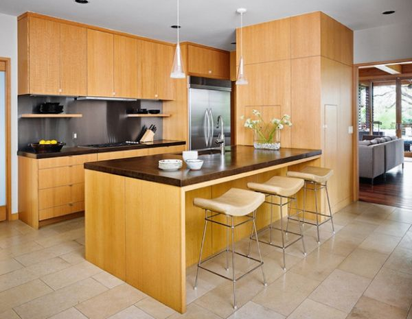 Seating at the kitchen island