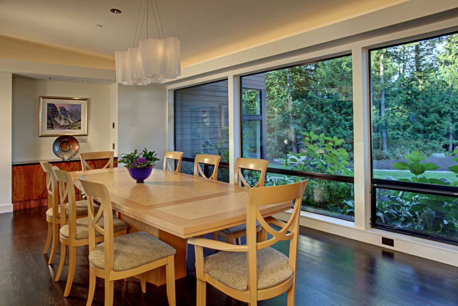 Spacious dining room inside the Forest House