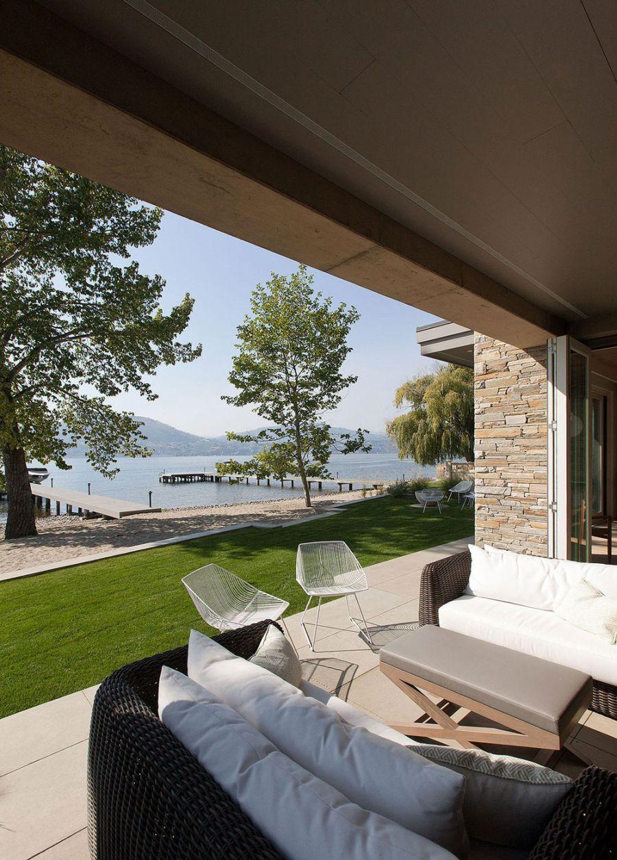 View of Lake Okanagan from the summer retreat