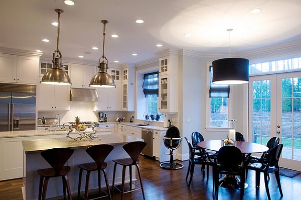 Cherner counter stools are perfect for the lower kitchen counters