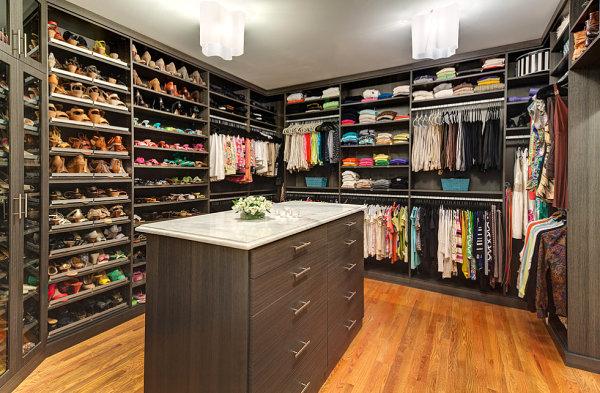 Colorful spacious closet