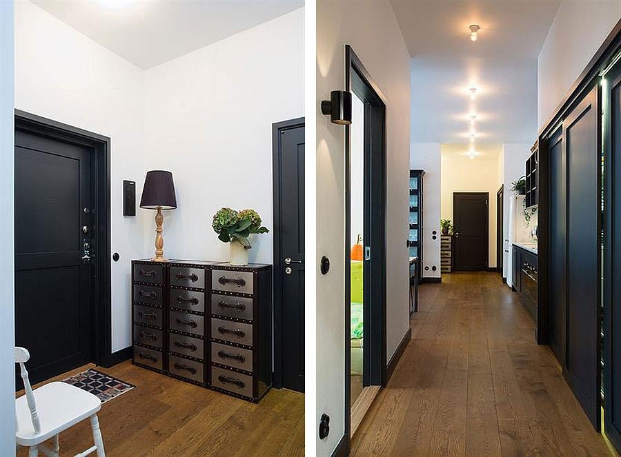 Corridors leading to the bedroom