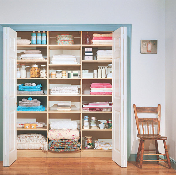 Design-worthy linen closet