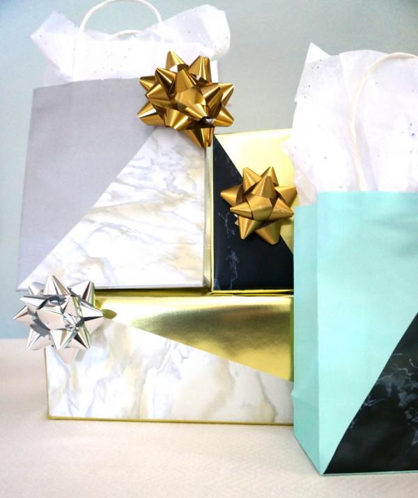 Geometric gift wrap