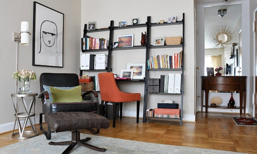 Ladder Shelves With Built In