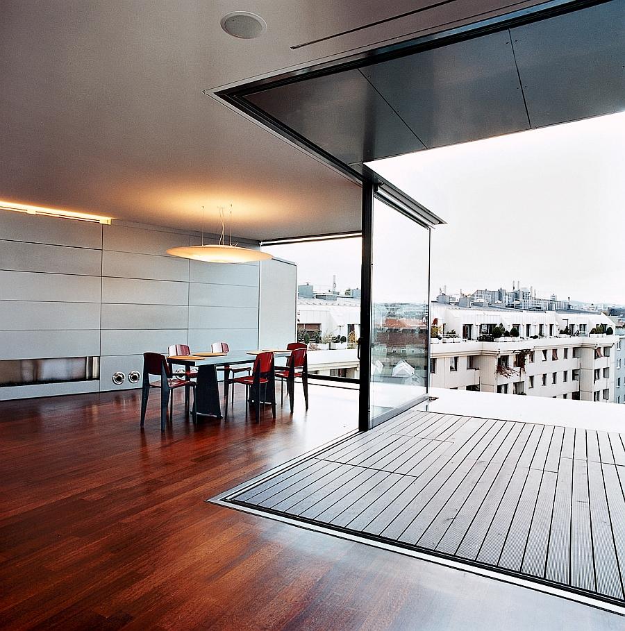 Light weight steel skeleton of contemporary Vienna Penthouse