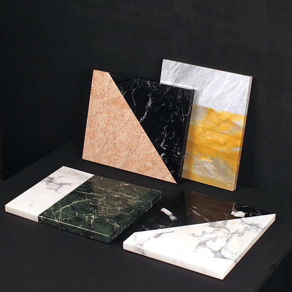 Marble platters with '80s style