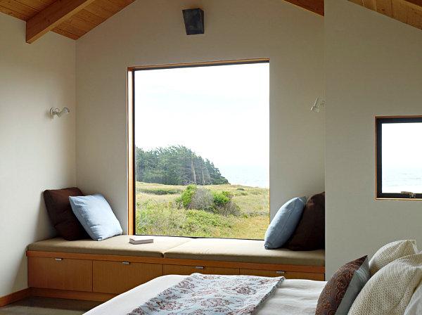 Modern window seat storage solution