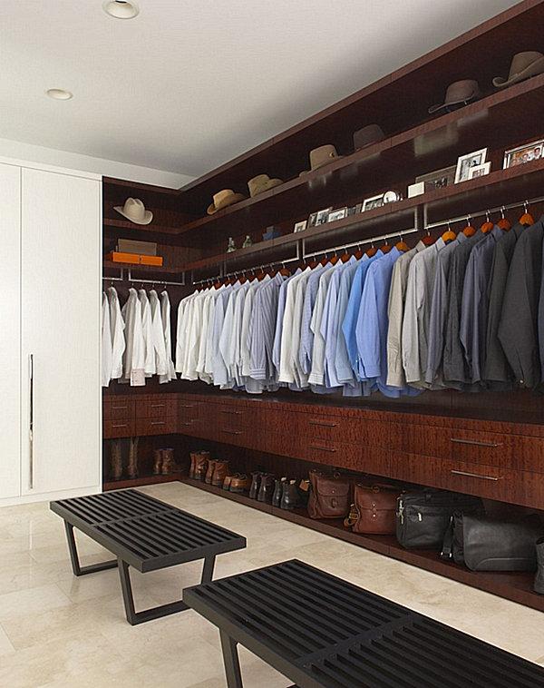 Neatly organized closet