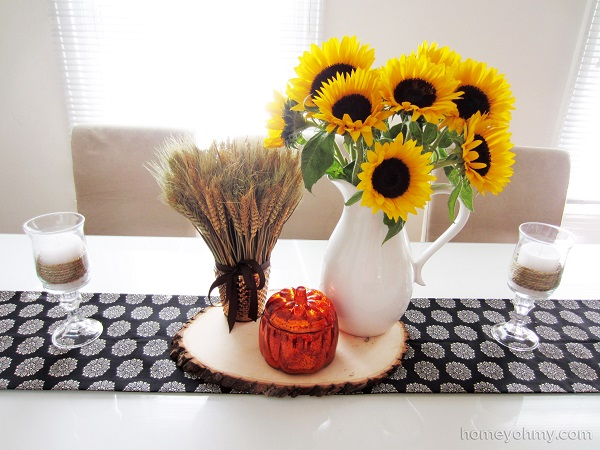 No sew fabric table runner