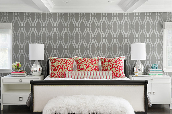 Soft geometric wallpaper