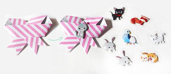 Washi tape gift bow