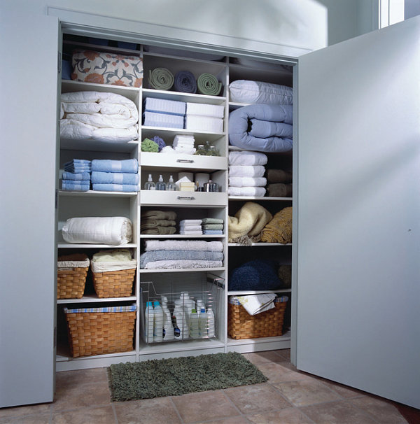 Well-appointed linen closet