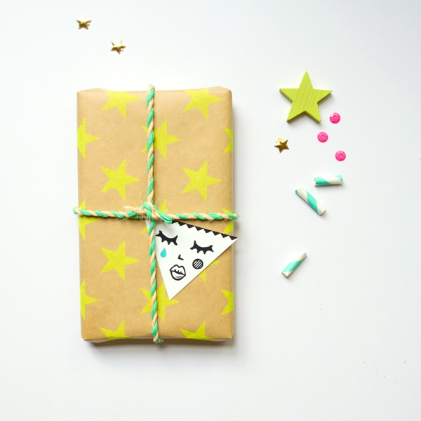 Whimsical gift wrap idea