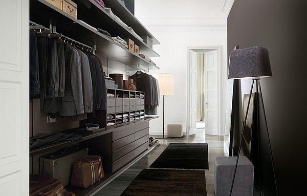 fancy walk in closet for men