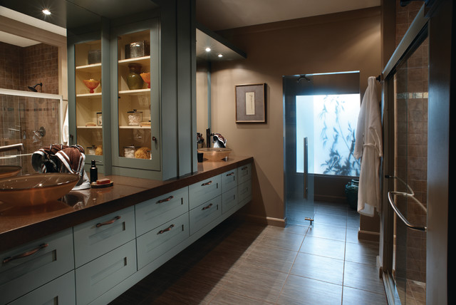 traditional his and hers bathroom
