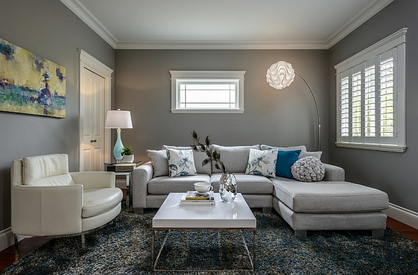 Add some color and textural contrast to the neutral setting
