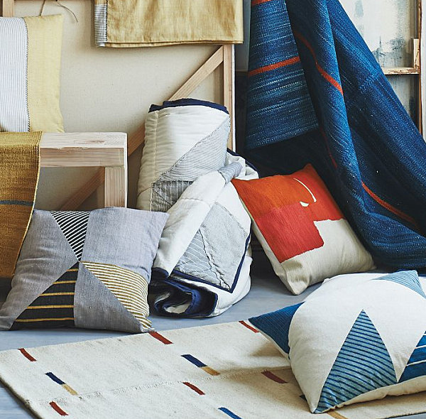Comfy bedding and textiles from West Elm