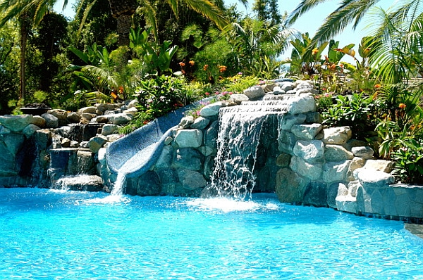 Design a fun pool feature in your own backyard