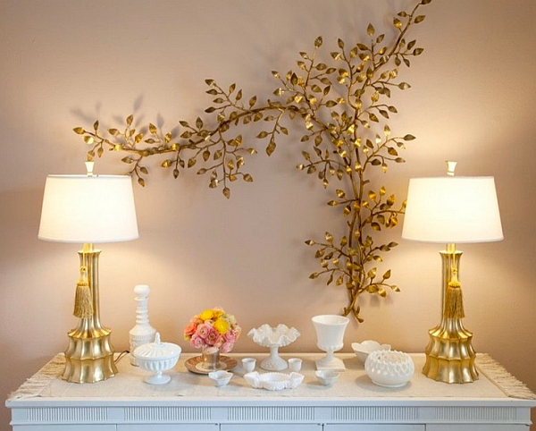 Golden hues add warmth and visual opulence