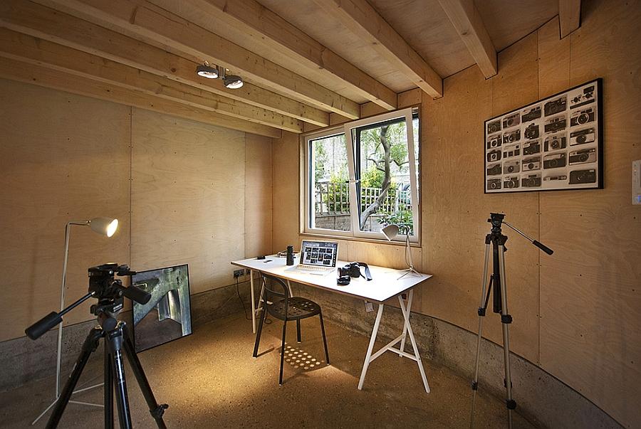 Home studio inside Victorian London House