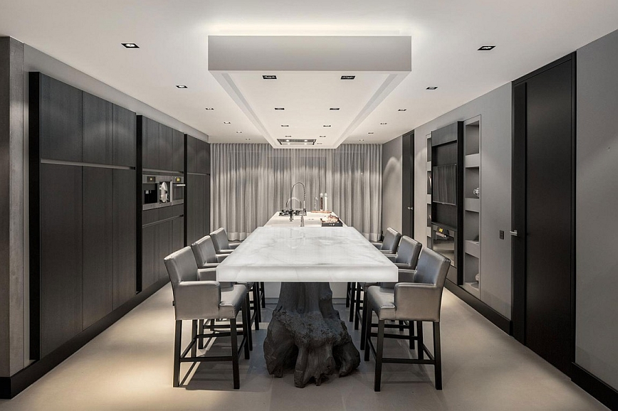 Illuminated Onyx tabletop for the dining room win white